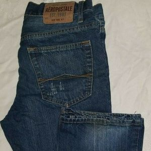 Aeropostale Jeans Blue Distressed DENIM Driggs